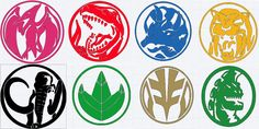 Mighty Morphin Power Ranger logo decals by MightyMorphinHelmets on Etsy