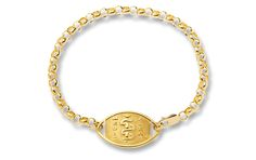 Gold-Filled Belcher Bracelet - Standard Emblem   Australia MedicAlert Foundation  #medicalert #medical_ID #medical_bracelet #safety