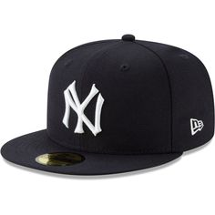 Men's New Era Navy New York Yankees Cooperstown Collection Alt Logo Pack Fitted Hat, Size: Summer Swag Outfits, Yankees Gear, Stylish Mens Outfits, New Era Cap, Fitted Caps, Cool Hats, New York Yankees, Look Cool, Hats For Men