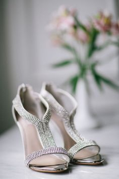 Sparkling Silver Wedding Shoes   Blaine Siesser Photography   The Best Bridal Accessories of 2014!