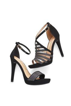 Heels - Black - Preta - Glam - Trend - Ref.  16-17806 | 16-19410