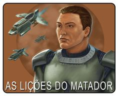 """Selo para a série """"As Lições do Matador"""", versão laranja. Uma criação do artista Vagner Vargas."""