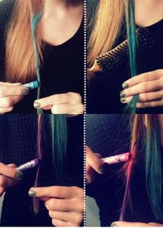 DIY Rainbow Ombre Tips!