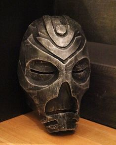 Dragon Priest mask - Skyrim - handmade replica. *AGED BLACK* version.