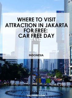 Attraction in Jakarta free of charge? Go to Car Free Day every Sunday starting from 6 am and have fun with the crowds! Here's the details of what you actually can see and do during the event. Walking On Cars, New Year's Eve Celebrations, Free Day, New Years Eve, Jakarta, Continents, South America, Attraction, Have Fun