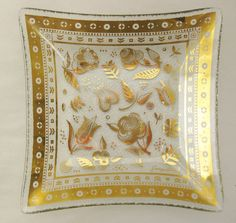 George Briard Square Glass Plate Persian Garden Mid by FreeLiving, $14.00