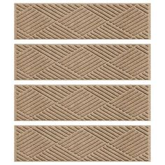 Aqua Shield Khaki 8.5 in. x 30 in. Diamonds Stair Tread (Set of 4)-20487501 - The Home Depot
