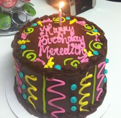 Birthday cake decorating idea