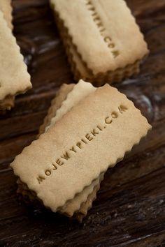 Ciasteczka marcepanowe - wizytówki