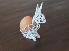 3D printed Easter Bunny Egg Holder by stefdevos