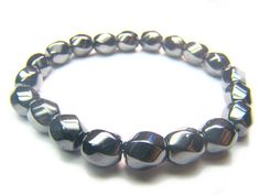 Hematite S-Shape 8mm Natural Crystal Bead Bracelet - See more at: http://waggashop.com/wagga-shop-hematite-s-shape-8mm-natural-crystal-bead-bracelet