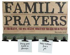 Family Prayer Board - 16-in - Mellow Monkey