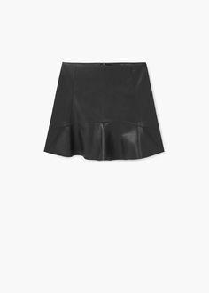 Fluted hem skirt | MANGO