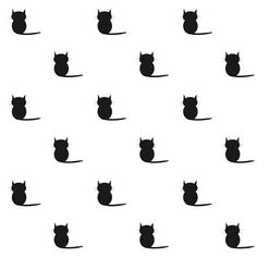 Free Cat Images: Free digital cat pattern paper - black and white - freebie