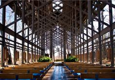 Thorncrown Chapel- the real reason to go to Eureka Springs, Arkansas.. besides staying the night in a treehouse for adults!