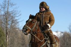 Russian Prime Minister Vladimir Putin taking a horseback ride in the Karatash area, near the town of Abakan, during his working trip to the Republic of Khakassia, on February 25, 2010. (Alexei Druzhinin/AFP/Getty Images)
