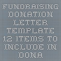 How To Write A Letter Asking For Donations  Fundraising