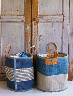 Baskets and doors.