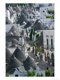 The amazing Trulli buildings of Alberobello in southern Italy