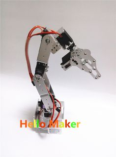 New Arrival Diy 6dof Aluminum Robot Arm 6 Rotating Mechanical Robot Arm Kit Aesthetic Appearance Remote Control Toys