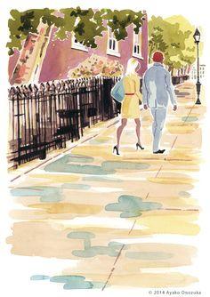 ayako onozuka #illustration #Watercolor #Landscape #イラストレーション