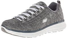 Skechers Sport Women's Synergy Spot On Fashion Sneaker, Gray, 8.5 M US >>> More info could be found at the image url.