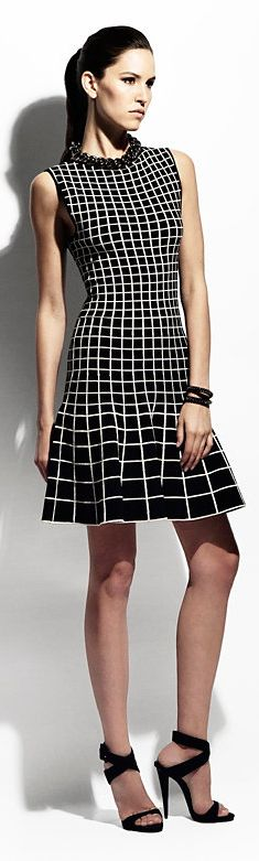 Ohne Titel Gradient Grid Knit A-Line Dress