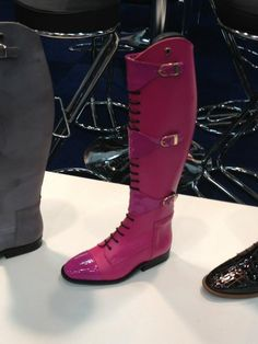 pink riding boots Equestrian Outfits, Equestrian Style, Riding Boots, Combat Boots, Riding Outfits, Riding Clothes, Flat Booties, Dressage Horses, Pink Boots