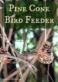 Juggling With Kids: Pine Cone Bird Feeder