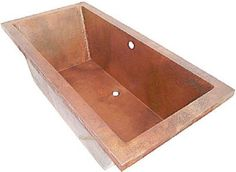custom copper drop-in bathtub  #mycustommade