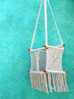 Baby Hanging Chair Available in different colours by HamacArt #crochet #boho #bohemian