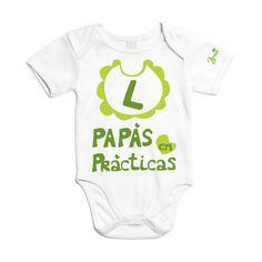 Body de algodón, para papás en prácticas. Un bonito regalo para sorprender a esos padres primerizos.
