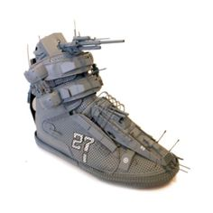 Maybe a transformer-shoe lesson? Found objective, additive sculpture, transformation....