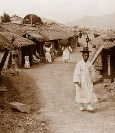 OLD KOREA - LAND OF THE MORNING CALM --  A Rustic Road Near SEOUL  ca. 1904