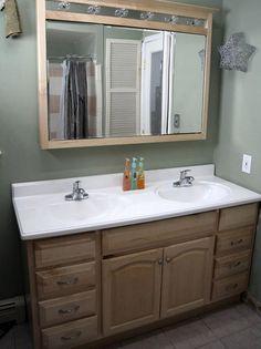 DIY: Turn a single sink vanity into a double sink vanity