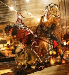 Let the epic battle begin! Rurouni Kenshin Movie, Kenshin Anime, Saitama, Era Meiji, The Last Samurai, Oriental, Takeru Sato, Japanese Drama, Samurai Art