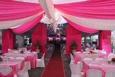 Sewa tenda dekorasi vip pernikahan jakarta murah sewa tenda hot pink and silver centerpieces google search junglespirit Gallery