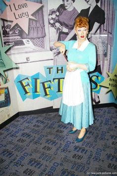 Lucille Ball wax figure at Madame Tussauds in NYC