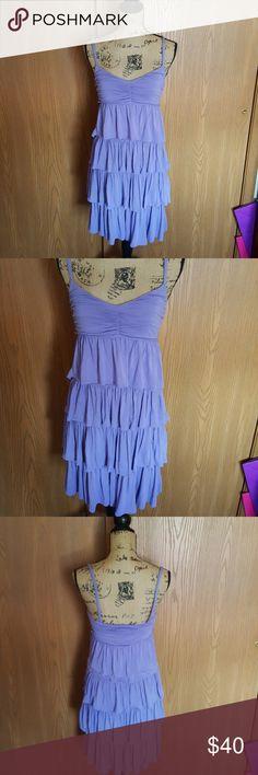 Selling this Medium lavender j.crew tiered ruffle dress. on Poshmark! My username is: jpresuhn. #shopmycloset #poshmark #fashion #shopping #style #forsale #J. Crew #Dresses & Skirts