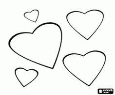 twee harten versierd met bloemen voor valentijnsdag