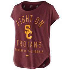 USC Trojans Nike Women's Game Day Signal Tri-Blend T-Shirt - Cardinal