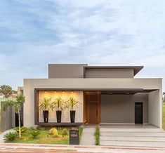 Modern Exterior House Designs, Small House Exteriors, Modern House Facades, Dream House Exterior, Modern House Design, Minimalist House Design, Contemporary Design, Bungalow Haus Design, Modern Bungalow House