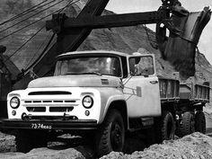 01 1964 год Короткобазное самосвальное шасси ЗиЛ 130Д2 для работы в составе автопоезда Строительный самосвальный автопоезд У-170 на шасси ЗИЛ-130Д2-76 с прицепом Т-295А