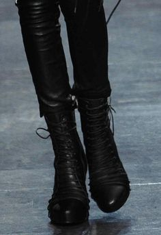 Ann Demeulemeester triple lace up boots - Google Search
