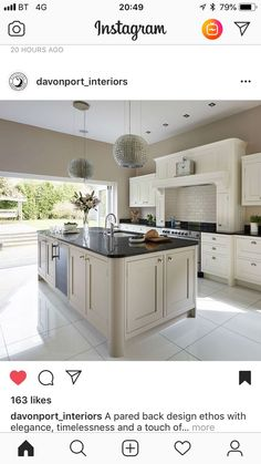 Home Decored Living Room Traditional Open Concept 47 Ideas For 2019 Kitchen Diner Extension, Open Plan Kitchen Diner, Open Plan Kitchen Living Room, Kitchen Island Decor, Home Decor Kitchen, Kitchen Styling, Cottage Kitchens, Home Kitchens, Brown Kitchens