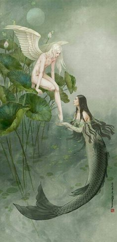 ♒ Mermaids Among Us ♒ art photography paintings of sea sirens water maidens - fairy mermaid