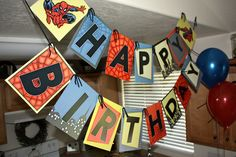 Spiderman Birthday Party  Banner. $29.99, via Etsy.