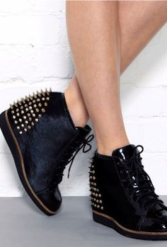 Shoes with studs