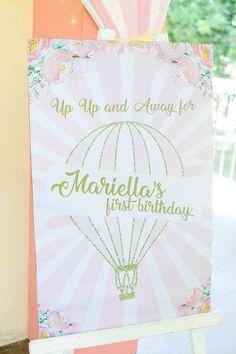 Hot Air Balloon Signage from a Hot Air Balloon Birthday Party on Kara's Party Ideas   KarasPartyIdeas.com (7)