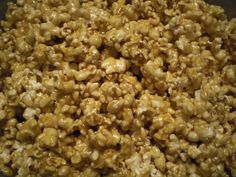 Most delicious Caramel Popcorn ever!Stays gooey and fresh for a long time, if its not eaten by then.  2 sticks of butter,  1 can sweatened condensed milk,  1 cup light corn syrup, 8 oz brown sugar (about half a bag)  Combine in medium sauce pan and boil for 2 min.  Pour over 4 popped bags of Orville Redenbacher's Tender White popcorn. Enjoy... It is amazing.